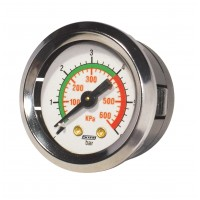 Manómetro c/ Indicador de Pressão - Anel Cromado