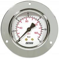 Manómetro de Painel c/ Caixa Aço Zincado c/ Aba