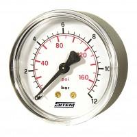 Manómetro c/ Caixa ABS - Horizontal